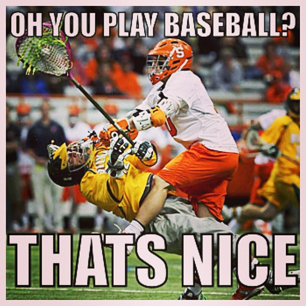 baseball versus lacrosse