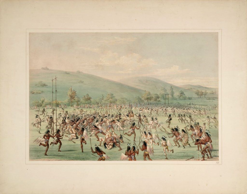 Vintage lacrosse poster