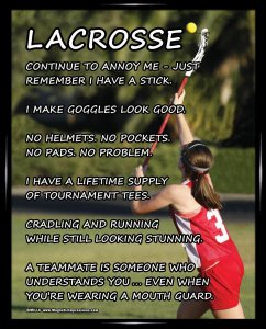Girls Lacrosse Posters