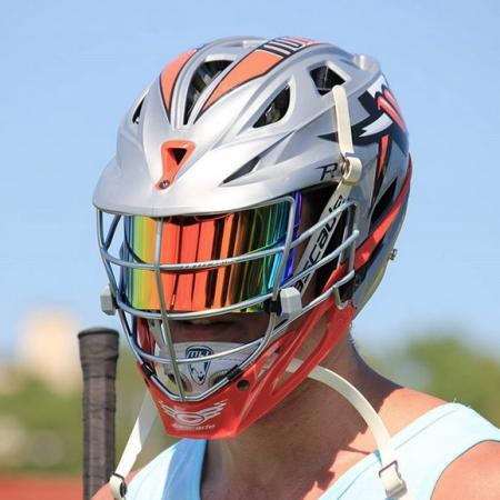 Shoc Visor Lax Helmet Tinted Lacrosse Scoop