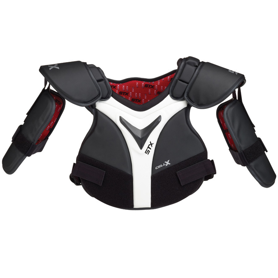 Best-STX Cell X Box SP Lacrosse Shoulder Pads-size-weight-colors