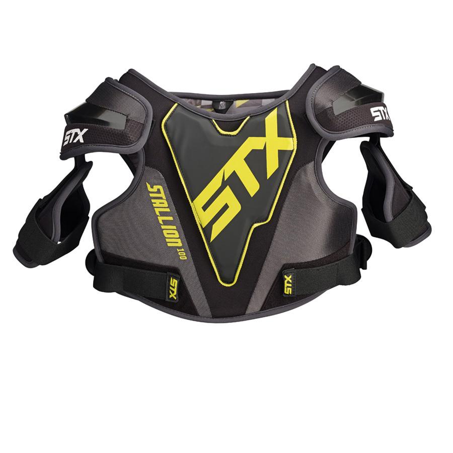 Best-STX Stallion 100 Shoulder Pad Lacrosse Shoulder Pads-size-weight-colors