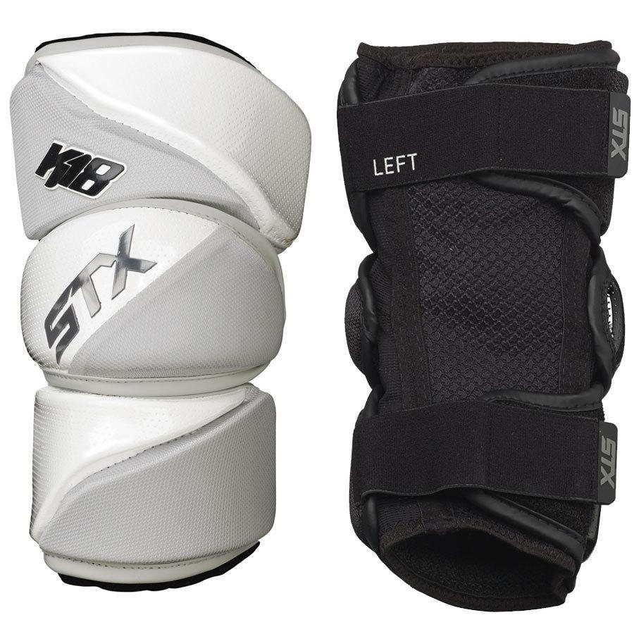 Best-STX K18 AP Lacrosse Arm Pads-size-weight-colors
